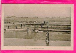 Cpa  Carte Postale Ancienne - Casablanca La Plage - Casablanca