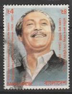 Bangladesh 1997 77th Anniv Birth Of Sheikh Mujibur Rahman, 1st President 1920-75 4 T  Multicolored SW 619 O Used - Bangladesh