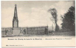CPA PK  SOUVENIR DU CHAMP DE BATAILLE DE WATERLOO  MONUMENT DES PRUSSIENS A PLANCENOIT - Bélgica