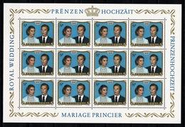 Luxembourg 1981 Yv. 986** Mi 1036** Mariage Princier - MNH - Full Sheets