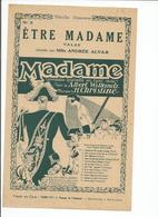 PARTITION  Etre Madame VALSE - Noten & Partituren