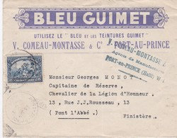 LSC - PORT-AU-PRINCE Pour PONT-L'ABBE / 26 JANV. 1933 - Haiti