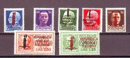 ITALIA ITALY1944 R.S.I   SERIE  IMPERIALE SOPRAS. COMPLETA CON ESPRESSI  MNH** - Nuovi