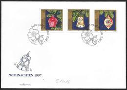 Liechtenstein: FDC, Antiche Decorazioni In Vetro, Antique Glass Decorations, Décorations En Verre Antique - Vetri & Vetrate