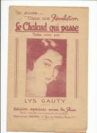 """Partition Ancienne """"Le Chaland Qui Passe """" L Ys Gaujtu - Noten & Partituren"""