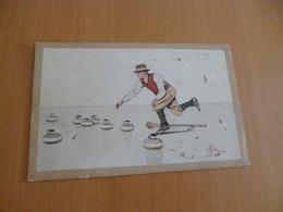 CPA Curling Illustrée Par Mégioni - Ansichtskarten
