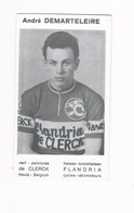 DEMARTELAERE André Wielrenner Coureur Cycliste  Flandria - Cyclisme