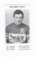 DE NEEF Killian Wielrenner Coureur Cycliste  Flandria - Cyclisme