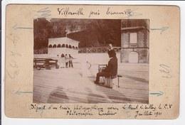 Photographie Cerf Volant - Départ D'un Train Photographique Aérien à Villerville Près Trouville En 1911 - Format 10x16cm - Aviation