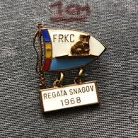 Badge Pin ZN006981 - Rowing / Kayak / Canoe Romania FRKC Federation Association Union REGATA SNAGOV 1968 - Canoeing, Kayak
