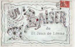 UN BAISER DE SAINT JEAN DE LOSNE        CARTE A PAILLETTES - France