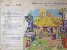 Découpage - Creche De Noël - éditions Albon (circa1950 ?) Bien Complet Des 8 Planches 26x 40 Cm - Vieux Papiers