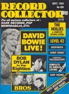REVUE ANGLAISE RECORD COLLECTOR N° 109   De 1988 :  DAVID BOWIE , Bob Dylan    ETC ........... - Objets Dérivés