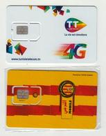 Deux Cartes Sim Telecom Non Utilisé - Tunisia