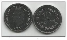 El Salvador 10 Centavos 1987. UNC - Salvador