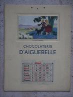 CHOCOLATERIE D AIGUEBELLE 1936 IL PLEUT BERGERE  PUBLICITE SEUL LE MOIS DE DECEMBRE EST VISIBLE - Calendars