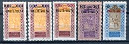 HAUTE-VOLTA - Y&T 18** à 22** (20% De La Cote) - Unused Stamps