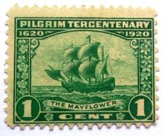 USA # 548  -  PILGRIM TERCENTENARY    -  MAYFLOWER  1c  - 1920 - United States