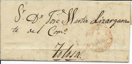D. P. N.º 10. Carta De 1850 Circulada De Mondragon A Tolosa - ...-1850 Prephilately