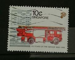 Singapour 1988 -  YT 653 Sapeur Pompier -  Oblitéré - Singapour (1959-...)