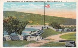 Fort Ticonderoga & Mt. Defiance, Lake Champlain, New York, USA Vintage Unused - NY - New York
