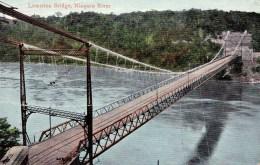 Lewiston Bridge, Niagara River, New York, USA Posted 1938 - NY - New York