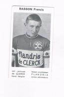 RASSON Francis  Wielrenner Coureur Cycliste  Flandria - Cyclisme