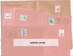 Lot De 6 Enveloppes Avec Timbres Préoblitérés Série INSTRUMENTS DE MUSIQUE Préo Sur Lettre Tous Différents - 1989-....