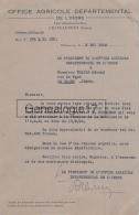 36 574 CHATEAUROUX INDRE 1943 OFFICE AGRICOLE DEPARTEMENTAL Vente Tracteur FERGUSON à WALTER Edmond De LE BLANC - France