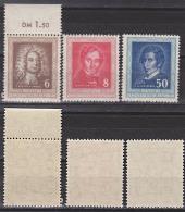 Germany EAST Lortzing Carl Maria Von Weber Händel DDR 308/10 Postfrisch Unused, Komponist Händelfest Halle - Musik