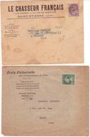 Lot De 4 Enveloppes Avec Timbres Préoblitérés BLANC SEMEUSE MARIANNE DE GANDON BLASON D'ANJOU Préo Sur Lettre - Voorafgestempeld