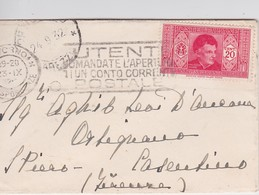 ITALIE 1932 LETTRE-MIGNONETTE DE LIVORNO - 1900-44 Vittorio Emanuele III
