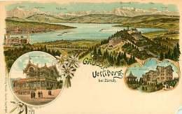 120618 - SUISSE ZURICH Gruss Vom Uetliberg - Montagne Restaurant Hôtel Multivues - KUNZLI - ZH Zurich