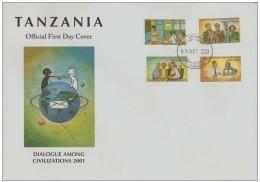 Dialogue Among Civilizations UN 2001 FDC Tanzania - Emissions Communes