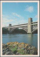 Britannia Bridge, Menai Strait, Anglesey, C.1990s - J Arthur Dixon Postcard - Anglesey