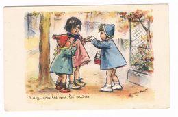 """Germaine BOURET  """" Aidez Vous Les Uns Les Autres """" Carte De Petit Format ( 10 X 6.3 ) - Bouret, Germaine"""