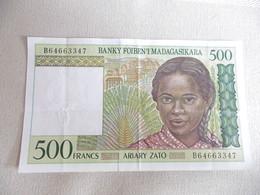 MADAGASCAR-BILLET DE 500 FRANCS 1994-ETAT TTB - Madagascar