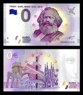 0 Euro Schein Souvernirschein Trier-Karl Marx  2018-1, UNC - EURO