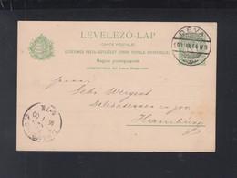 Hungary Romania Stationery 1901 Deva To Hamburg - 1881-1918: Carol I.