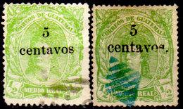 Guatemala-0021 - Emissione 1878 (o) Used - Differenti Per Carta, Colore E Sovrastampa - - Guatemala