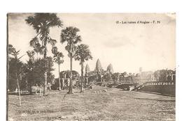 CPA Indochine Les Ruines D'Angkor - Cartes Postales