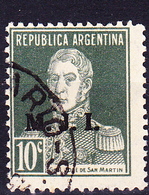Argentinien - Dienst/service Mit Aufdruck Für Innenministerium (MiNr: V B 290) 1925 - Gest Used Obl - Oficiales
