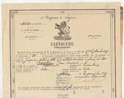 1887 Arlon Cartouche 11èm Régiment De Ligne Sauvlet - Documents