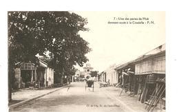 CPA Indochine Une Des Portes Du Hué Donnant Accès à La Citadelle - Cartes Postales