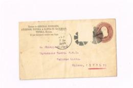 Entier Postal à 2 Cents. Expédié De Topeka (Kansas) à Milano (Italie) - Entiers Postaux