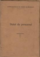 Chemins De Fer Belges SNCB Statut Du Personnel En 94 Pages - Chemin De Fer