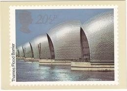 THAMES FLOOD BARRIER - British Engineering Achievements - 20 1/2p Stamp - May 1983 - Postzegels (afbeeldingen)