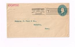 Entier à 1 Cent. Expédié De San FRancisco à Batavia (Java). - Entiers Postaux