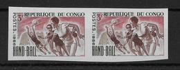 CONGO - HANDBALL - YT 192 ** NON DENTELES En PAIRE - Congo - Brazzaville