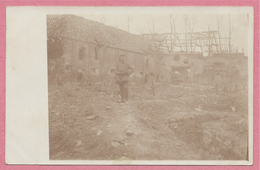 62 - BUCQUOY - Ferme RETTOMOY - Carte Photo Allemande - Ruines - Soldats Allemands - Guerre 14/18 - 3 Scans - Zonder Classificatie